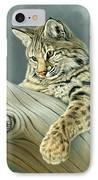 Curiosity - Young Bobcat IPhone Case by Paul Krapf