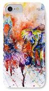 Curious Baby Elephant IPhone Case by Zaira Dzhaubaeva