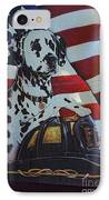 Dalmatian The Firefighters Mascot IPhone Case by Paul Ward