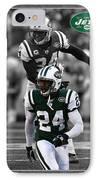 Darrelle Revis Jets IPhone Case by Joe Hamilton