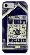 Davy Crocketts Tennessee Whiskey IPhone Case by Dan Sproul