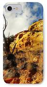 Dead Tree Against The Blue Sky IPhone Case by Jeff Swan