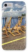 Deckchairs At Southend IPhone Case by Avalon Fine Art Photography