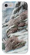 Deer In A Snowy Landscape IPhone Case by Gustave Courbet