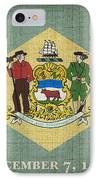 Delaware State Flag IPhone Case by Pixel Chimp