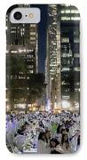 Diner En Blanc New York 2013 IPhone Case by Lilliana Mendez