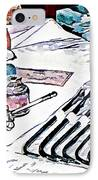 Doctor - Medical Instruments IPhone Case by Susan Savad