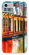 Downpour On Bourbon Street IPhone Case by Diane Millsap