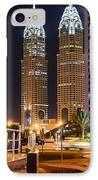 Dubai Business Towers IPhone Case by Zaharra Hemani