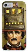 Edgar Allan Poe IPhone Case by Leah Saulnier The Painting Maniac
