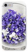 Edible Violets  IPhone Case by Elena Elisseeva