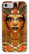 055 - Egyptian Woman Warrior Magic   IPhone Case by Irmgard Schoendorf Welch