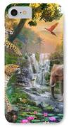 Elephant Falls IPhone Case by Jan Patrik Krasny