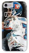 Elway IPhone Case by Don Medina