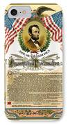 Emancipation Proclamation Tribute 1888 IPhone Case by Daniel Hagerman