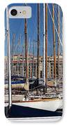 Empty Masts In Vieux Port IPhone Case by John Rizzuto