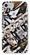 Engine For Parts - Automotive Recycling IPhone Case by Crystal Harman