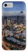 Evening City Lights IPhone Case by Ron Shoshani