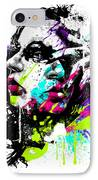 Face Paint 1 IPhone Case by Jeremy Scott