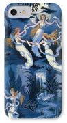 Fairies In The Moonlight French Textile IPhone Case by Photo Researchers