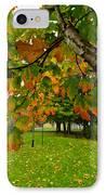 Fall Maple Tree In Foggy Park IPhone Case by Elena Elisseeva