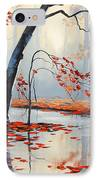 Fall River Painting IPhone Case by Graham Gercken