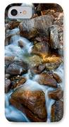 Falls And Rocks IPhone Case by Cat Connor