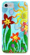 Fanciful Flowers IPhone Case by Shawna Rowe