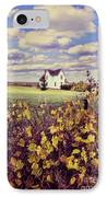 Farmhouse And Grapevines IPhone Case by Jill Battaglia