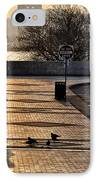 Feeding The Birds At Dawn IPhone Case by Bill Cannon