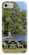 Fishing At Ponce De Leon Springs Fl IPhone Case by Christine Till
