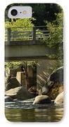 Fishing In Deer Creek IPhone Case by James Eddy