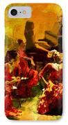 Flamenco Dancer 020 IPhone Case by Catf
