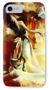 Flamenco Dancer 032 IPhone Case by Catf