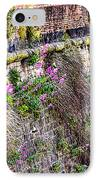Flower Wall Along The Arno River- Florence Italy IPhone Case by Jon Berghoff