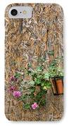 Flowers On Wall - Taromina IPhone Case by David Smith