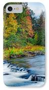 Foretelling Of A Storm Beaver's Bend Broken Bow Fall Foliage IPhone Case by Silvio Ligutti