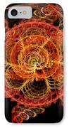 Fractal - Abstract - Mardi Gras Molecule IPhone Case by Mike Savad