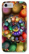 Fractal Textured Spiral IPhone Case by Peggi Wolfe