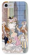 France In The 18th Century IPhone Case by Georges Barbier