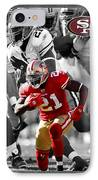 Frank Gore 49ers IPhone Case by Joe Hamilton