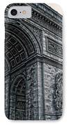 French - Arc De Triomphe And Eiffel Tower II IPhone Case by Lee Dos Santos