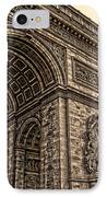 French - Arc De Triomphe And Eiffel Tower IIi IPhone Case by Lee Dos Santos