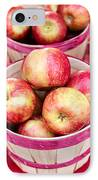 Fresh Apples In Buschel Baskets At Farmers Market IPhone Case by Teri Virbickis