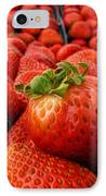 Fresh Strawberries IPhone Case by Peggy Hughes