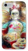 Frida Viva La Vida IPhone Case by Heather Calderon