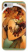 Fruit IPhone Case by Alphonse Maria Mucha