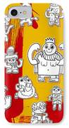 Funny Doodle Characters Urban Art IPhone Case by Frank Ramspott