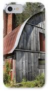 Gambrel-roofed Barn IPhone Case by Paul Mashburn