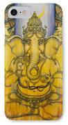 Ganesha IPhone Case by Vrindavan Das